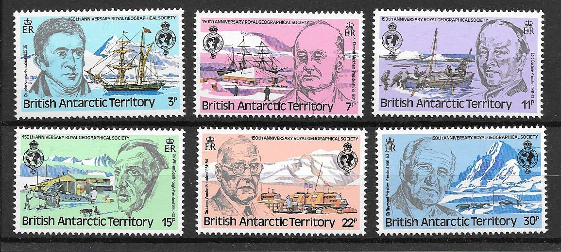 Royal Geographical Society 150th Anniversary Stamps