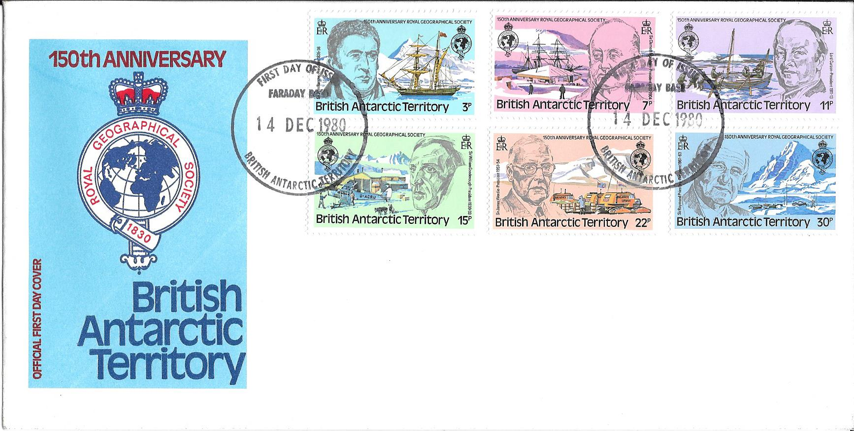Royal Geographical Society 150th Anniversary 1980 Cover