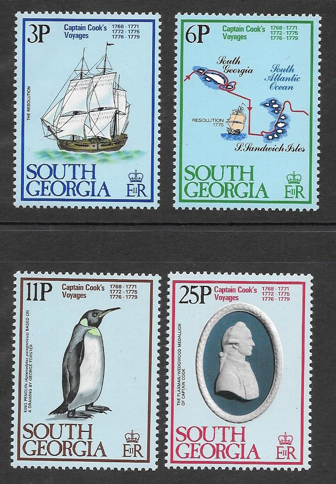 Captain Cook 1728 - 1779 Stamps