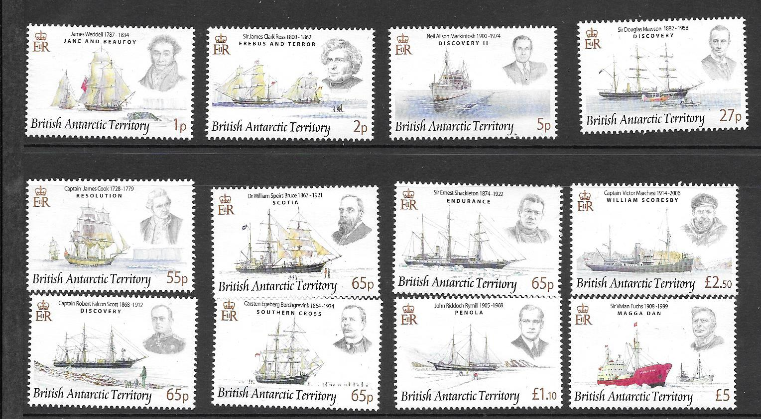 Explorers and Ships Set Stamps 2008