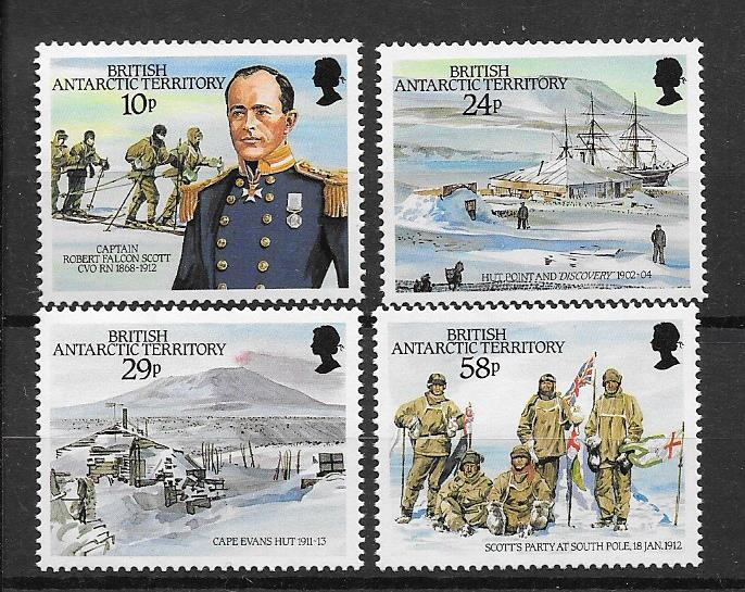 Captain Scott 75th Anniversary Arrival at South Pole 1987 Stamps