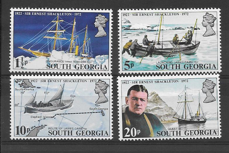 Shackleton 50th Anniversary 1972 Stamps