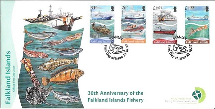 First Day Cover 30th Anniversary Falkland Islands Fishery