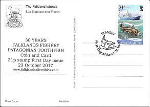 30 Years Falklands Fishery postcard