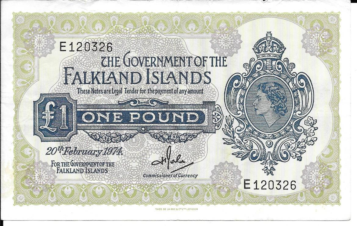 1974 One Pound Banknote E120326