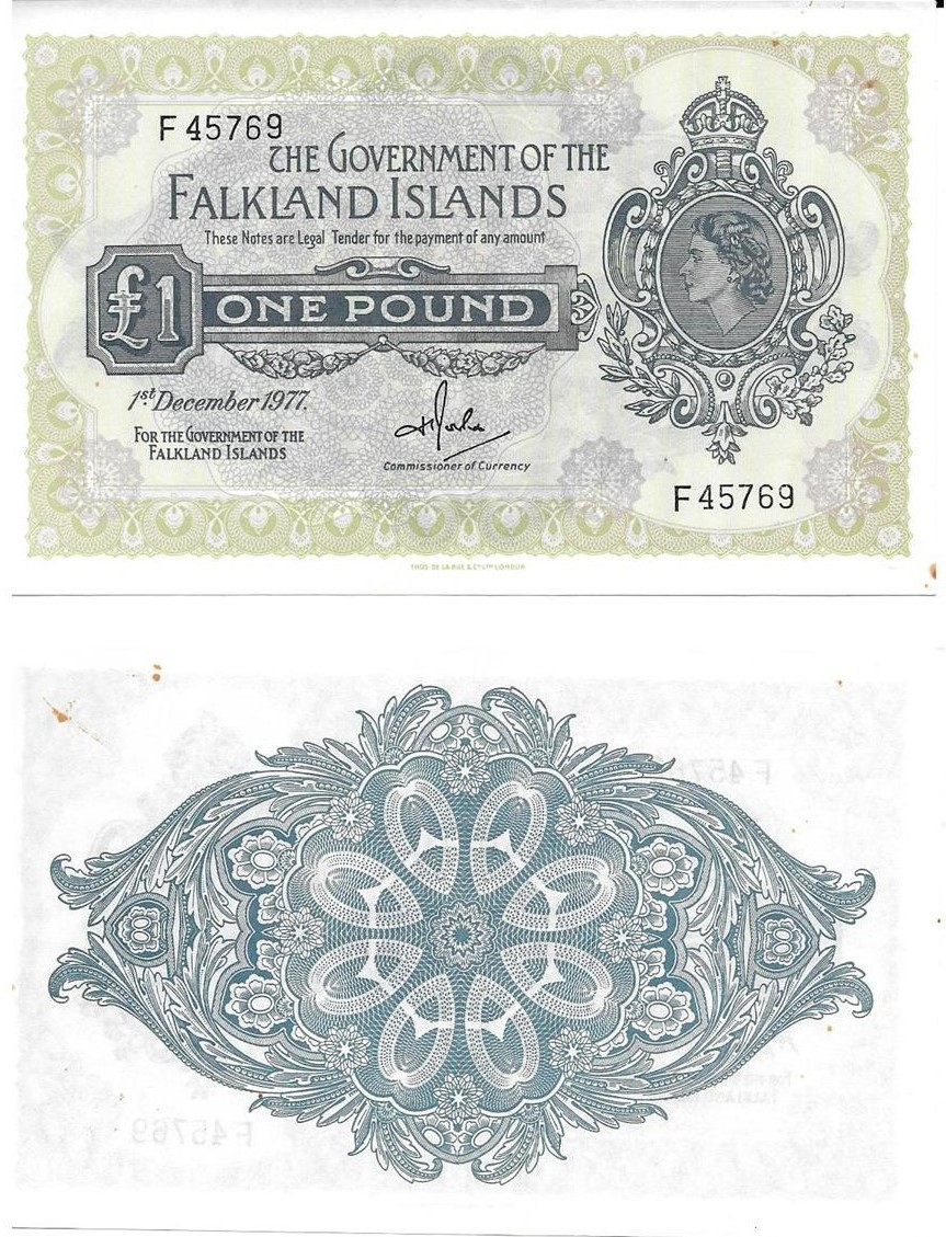 1977 One pound Banknote F45769