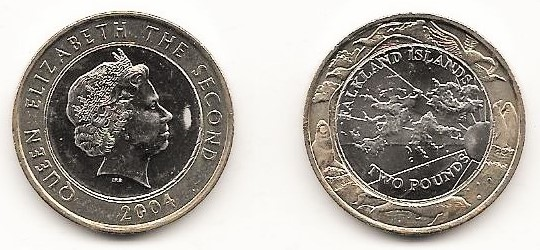 2004 Millennium Two Pound Coin Uncirculated.